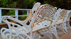 Bancos blancos (carlosgconde1) Tags: panorama espaa white blanco bench spain espanha view asturias paseo bancos promenade vista blanche weiss espagne bianco spanien lastres ispaniya blanco