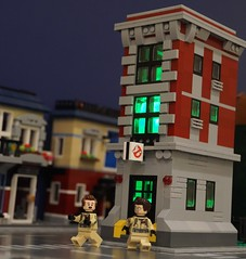 Egon, what did you do? (Hobbestimus) Tags: lego ghostbusters moc petervenkman egonspengler 80s cartoon movie toys firehouse