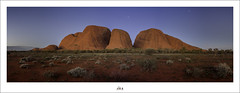 Time Spent With Family ... Is Time Well Spent ... (Maxwell Campbell) Tags: sunset panorama landscape australia moonlight outback uluru katatjuta northernterritory