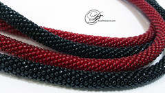 Red & Black (SilverCuteDwarf) Tags: necklace handmade jewelry lariat blackred rednecklace handmadejewelry beadedjewelry longnecklace fancyjewelry blackbeadednecklace rubynecklace blacklariat redlariat redlongnecklace fancybeadednecklace fancycrochetnecklace uniquebeadednecklace rubylariat radblack blacklongnecklace
