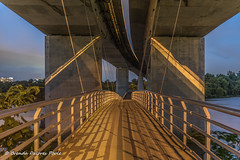 Belle Isle_07-01-2016-11256 (BrendaDeloresPoole) Tags: architecture suspensionbridge richmondva belleisle jamesriver tredegarstreet pedestrianfootbridge roberteleebridge bridgesvirginia