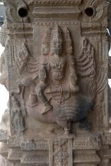 3-headed god (VinayakH) Tags: talakad karnataka india temple hindu chola gangadynasty hoysala carvings vaidyeshvara kirtinarayana