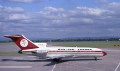 DAN-AIR Boeing 727 G-BAJW Manchester Airport June 1975 75F17-023-m1 (pentax spotmatic 7718) Tags: boeing727 manchesterairport danair
