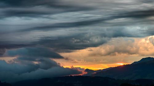 Sonnenaufgang über Luzern