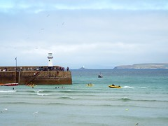 St Ives  (Samantha.Rose.Wilding) Tags: ocean sea seaside lighthouse peir harbour blue boat boats sky island cornwall stives holiday summer