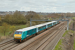 67022 82306 1V91 0533 Holyhead - Cardiff at Duffryn Newport  19.04.2016 (1) (The Cwmbran Creature.) Tags: british rail class railway train trains 67 wag wales assembly government gerald atw arriva premier service