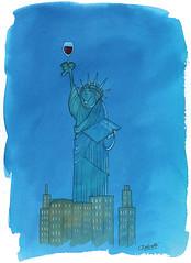 Statue de la libert (delvallefr) Tags: vin houmour bd bande dessinee dessine vino wine delvall statue libert liberte new york freedom