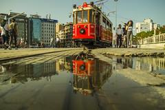 Tram (hkavas) Tags: tram vehicle taksim beyoglu istanbul istiklalstreet turkey turchia turkei outdoor outside people street streetshot sonya58 sigma1770f2845