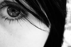 laragazzadellago (Anemic Amour) Tags: occhio eye black white blackwhite
