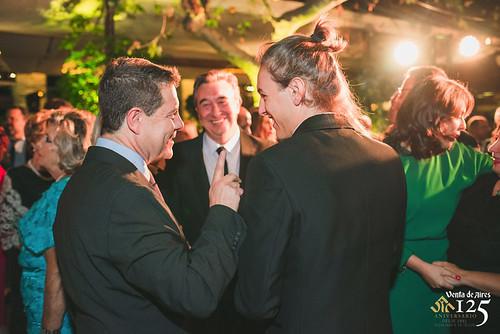 Emiliano García Page, José Luis Humanes y Jorge Humanes en Venta de Aires (Restaurante centenario de Toledo)
