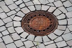 ((HAMBURG)) (Elbmaedchen) Tags: gullydeckel hamburg hafencity rost hww sewercover wappen torzurwelt amsbeck