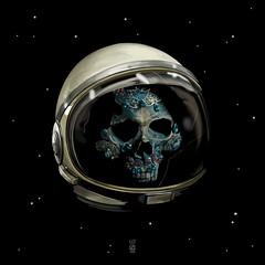 Holy Starman Skull II (7115) Tags: liisroden graphics grfx art astronaut skull jewel bowie davidbowie space tribal mystery ritual ancient