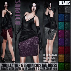 Sn@tch Zuri Leather & Sequin Cocktail Dress Vendor Ad LG (Tess-Ivey Deschanel) Tags: sntch snatch secondlife sl second life sexy style specials new newrelease newreleases outfits omegasystem october clothing clothes clubwear costumes cyberpunk casual iveydeschanel ivey ihearts hot horror halloween haunted hair