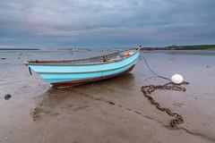 Little Fishing Boat. (Callaghan69) Tags: uk longexposure beach landscape island coast boat fishing northumberland coastal le slowshutter fishingboat holyisland lindisfarne northeastengland northumberlandcoast d7100 tokina1116 nikond7100