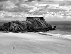 Tenby Wales 2008 612 (saxonfenken) Tags: sea people bw rock wales landscape island 2008 tenby 8064 challengeyou 15challenges a3b friendlychallenges fotobronze gamesweep herowinner pregamewinner 8064land