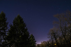 View of the Stars (stevemieses) Tags: bridge trees sky nature night stars photography nikon scenery pennsylvania astrophotography dslr d3100 nikond3100