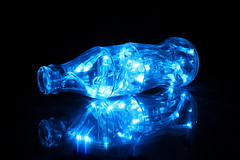 Twelfth Night (blacksplat) Tags: christmas xmas blue glass canon lights bottle glow led fairy bouteille