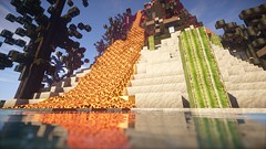 Lavafluss (Minecraft Wallpaper) Tags: wallpaper strand landscape mond wasser nebel ambient hd aussicht landschaft sonne schatten baum umgebung dner fullhd gronkh taddl minecraft pewdiepie sarazar herrbergmann pietsmiet thediamondminecart ungespielt