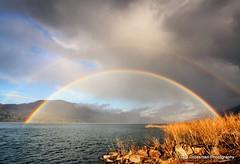 Over The Rainbow (Gary Grossman) Tags: winter landscape rainbow columbiariver pacificnorthwest doublerainbow columbiarivergorge overtherainbow somewhereovertherainbow nationalscenicarea daltonpoint garygrossman garygrossmanphotography