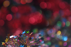 Green Star (peterphotographic) Tags: christmas uk england colour macro london closeup glitter nikon dof bokeh britain sigma depthoffield tinsel christmasdecoration e17 walthamstow greenstar eastlondon allthatglitters sigma70210f28 macromondays d300s dsc3155edwm