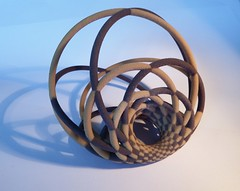 The Lost Art of Cyclid Islands Weavers Revisited (fdecomite) Tags: print 3d model sandstone san math blender antonio jmm povray cyclide villarceau shapeways