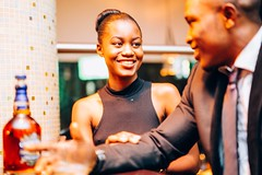 Young Nigerian Couple at the Bar (Devesh Uba) Tags: africa lagos scotch africanwoman naija lagosnigeria africanpeople africanman urbanafrica nigerianwoman beautifulafricanpeople snapitoga youngnigeriangirl youngnigerianwoman richnigerians lagoshighlife