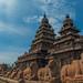 Seashore Temple with bluesky, Mahabalipuram, India.