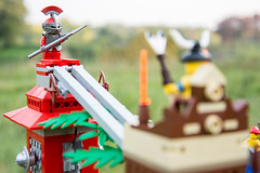 Four towers (Milan Sekiz) Tags: tower fall glass ball four fight lego space pirates details rail down knights jungle theme tall marble tribe batlle