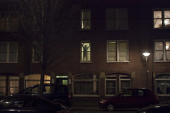 Amsterdam - winter evening (juliehrudova) Tags: street travel light shadow urban streets holland netherlands amsterdam night composition photography graphic cities nightlife silhouet minimalsim