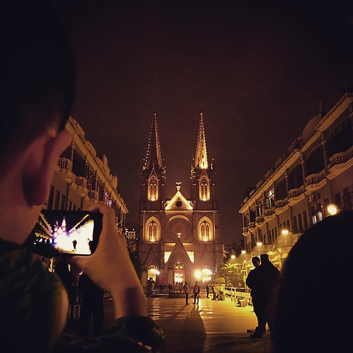 平安夜. #Christmas #Cathedral #sacred #church #eve #canton #guangzhou