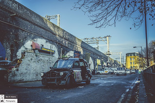 ABANDONED LONDON BLACK TAXI CAB
