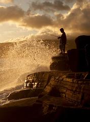 Fishing Portlock (peggysuephotography) Tags: sunset hawaii fishing oahu honolulu portlock lavarock
