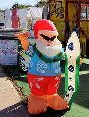 Mele Kalikimaka! - Maui, Hawaii (tossmeanote) Tags: santa blue red up shirt canon eos hawaii cool maui shades blow chillin inflatable surfboard hawaiian tropical shaka hi hang loose kihei 24105 60d tossmeanote maui2014