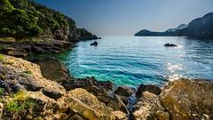 Corfu (forceberg) Tags: sea summer holiday water rock stone greek bay twins nikon angle wide aegean hellas greece corfu korfu kerkyra ultra 2014 ellas ionian d7k d7000