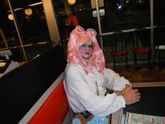 Lolita School Girl (Petticoat Brenda) Tags: pink cute halloween fashion uniform doll pretty girly lolita purse wig sissy bow schoolgirl