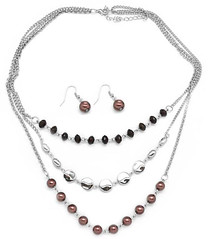 5th Avenue Brown Necklace P2330A-3