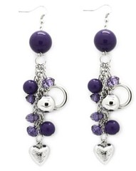 Glimpse of Malibu Purple Earrings P5420A-4