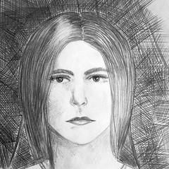 violetta (Yulia Correal Román) Tags: woman monochrome face portraits personas retratos chicas persons draw dibujos mujeres rostro blanconegro dibujar