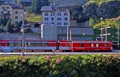 R11567.  Metre Gauge Rolling Stock. (Ron Fisher) Tags: schweiz switzerland suisse transport rail railway narrowgauge stmoritz rhb graubünden rhätischebahn albulaline schmalspurbahn swissrailways metregauge voieetroite