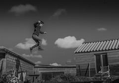 Jump (Thomas Kriehn Photography) Tags: sky bw white black france clouds nikon frankreich wolken sw schwarz weis d40 lacale