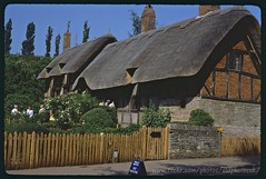 Anne Hathaway's cottage 1964 (oldphotosuk) Tags: old uk england house building film farmhouse 35mm anne scans village britain cottage shakespeare tudor wife british warwickshire stratford stratforduponavon 1964 thatched hathway shottery oldphotosuk