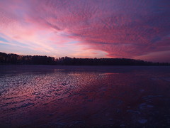 Crazy Sunset (Axiraa) Tags: winter sunset sky cloud sun lake ice water frost estonia baltics saadjrv tartumaa ksi
