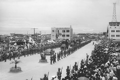 Scene of President Eisenhower's Visit to Okinawa, 1960 (Marine Corps Archives & Special Collections) Tags: robert marine corps marines veasley