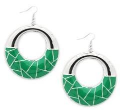 Glimpse of Malibu Green Earrings P5810A-1