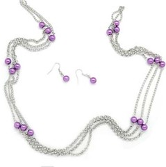 Glimpse of Malibu Purple Necklace P2420-3