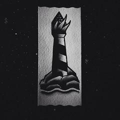 tumblr_nh9ec4sFeg1u6ing4o1_1280 (klink.tattoo) Tags: old school light lighthouse house black k tattoo ink island fire traditional oldschool tatoo kiev kl tatu trad klink tattu klinkkiev klinkiev