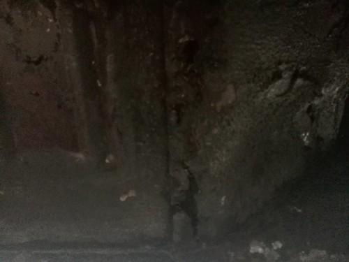 Roestschade op de bodemplaat schutbord