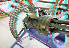 Rotary cannon M61 A1 Vulcan 3D (wim hoppenbrouwers) Tags: museum 3d anaglyph stereo cannon vulcan a1 rotary soesterberg militair nationaal redcyan m61