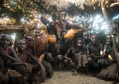 Circumcised boys from the dassanech tribe staying together until they are healed, Omo valley, Omorate, Ethiopia (Eric Lafforgue) Tags: africa people color men boys coffee horizontal outdoors togetherness necklace day african traditional young ceremony culture teenagers tribal indoors hut dime teenager blackpeople bead omovalley ritual ethiopia tribe circumcision groupofpeople dimi initiation manhood hornofafrica eastafrica circumcised animalskin abyssinia tribesmen omorate indigenousculture geleb dassanech calabashes dassanetch daasanach daasanech blackethnicity ethio161870
