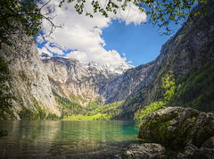 obersee (koaxial) Tags: lake mountains nature water clouds germany landscape bayern deutschland bavaria see berchtesgaden spring wasser natur wolken berge valley landschaft tal frhling obersee koaxial p5064299303p6majpg